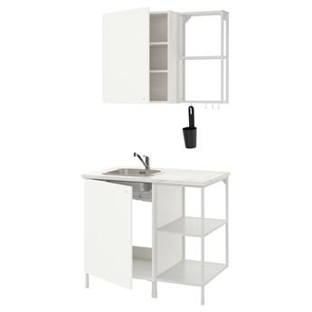 IKEA ENHET Kuchnia, biały, 103x63.5x222 cm