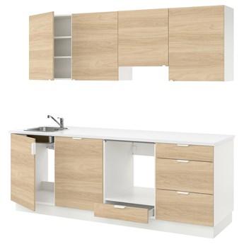 IKEA ENHET Kuchnia, imit. dębu, 243x63.5x222 cm