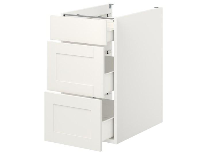 IKEA ENHET Szafka stojąca/3 szuflady, biały/biały rama, 40x62x75 cm