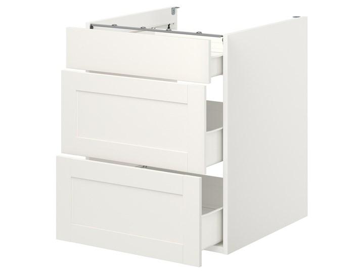IKEA ENHET Szafka stojąca/3 szuflady, biały/biały rama, 60x62x75 cm