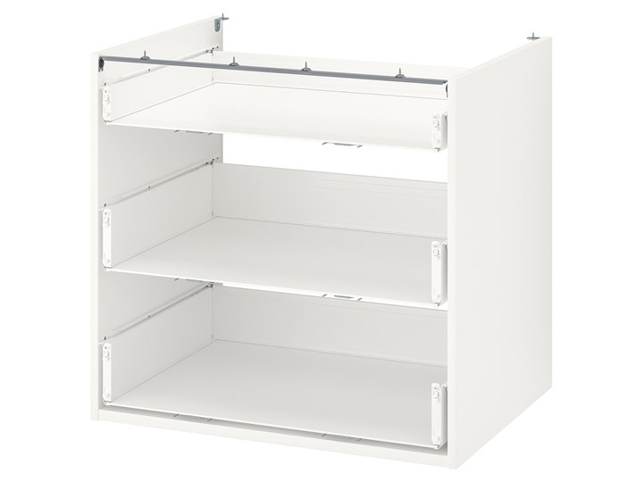 IKEA ENHET Szafka stojąca/3 szuflady, biały, 80x60x75 cm