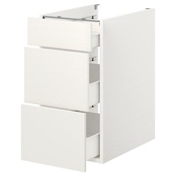 IKEA ENHET Szafka stojąca/3 szuflady, biały, 40x62x75 cm