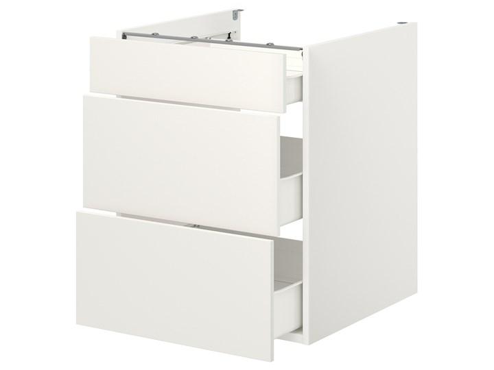 IKEA ENHET Szafka stojąca/3 szuflady, biały, 60x62x75 cm Szafka dolna Płyta MDF Kategoria Szafki kuchenne