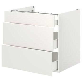 IKEA ENHET Szafka stojąca/3 szuflady, biały, 80x62x75 cm