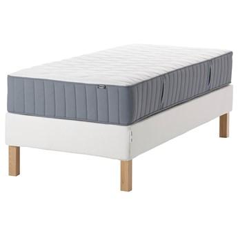 IKEA ESPEVÄR/VÅGSTRANDA Łóżko kontynentalne, biały/średnio twardy jasnoniebieski, 90x200 cm