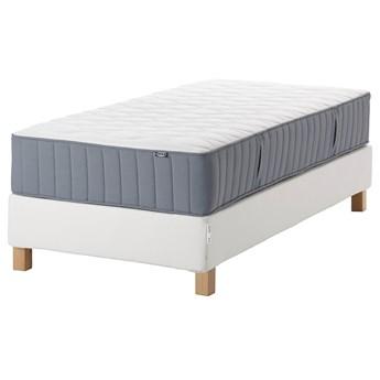 IKEA ESPEVÄR/VÅGSTRANDA Łóżko kontynentalne, biały/twardy jasnoniebieski, 90x200 cm