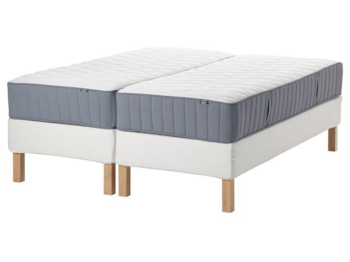 IKEA ESPEVÄR/VÅGSTRANDA Łóżko kontynentalne, biały/twardy jasnoniebieski, 180x200 cm