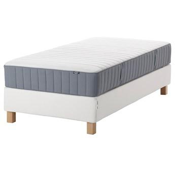 IKEA ESPEVÄR/VALEVÅG Łóżko kontynentalne, biały/średnio twardy jasnoniebieski, 90x200 cm