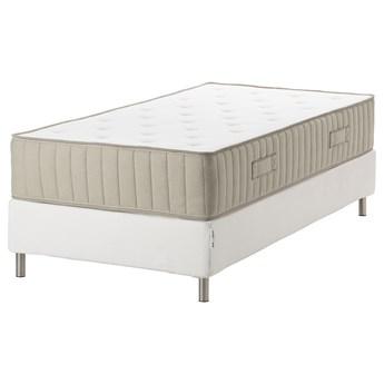 IKEA ESPEVÄR/VATNESTRÖM Łóżko kontynentalne, biały/średnio twardy naturalny, 90x200 cm