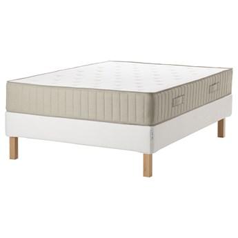 IKEA ESPEVÄR/VATNESTRÖM Łóżko kontynentalne, biały/średnio twardy naturalny, 140x200 cm