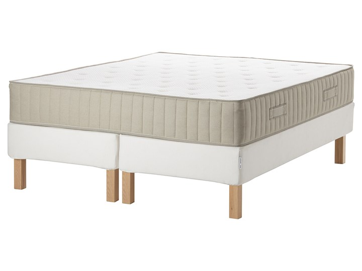 IKEA ESPEVÄR/VATNESTRÖM Łóżko kontynentalne, biały/średnio twardy naturalny, 180x200 cm