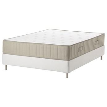 IKEA ESPEVÄR/VATNESTRÖM Łóżko kontynentalne, biały/twardy naturalny, 140x200 cm