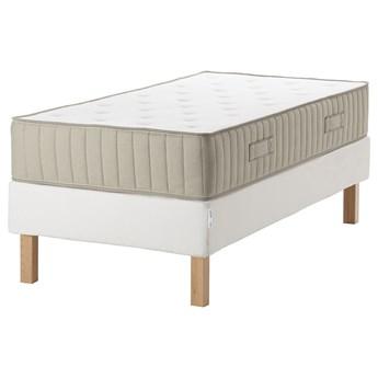 IKEA ESPEVÄR/VATNESTRÖM Łóżko kontynentalne, biały/twardy naturalny, 90x200 cm