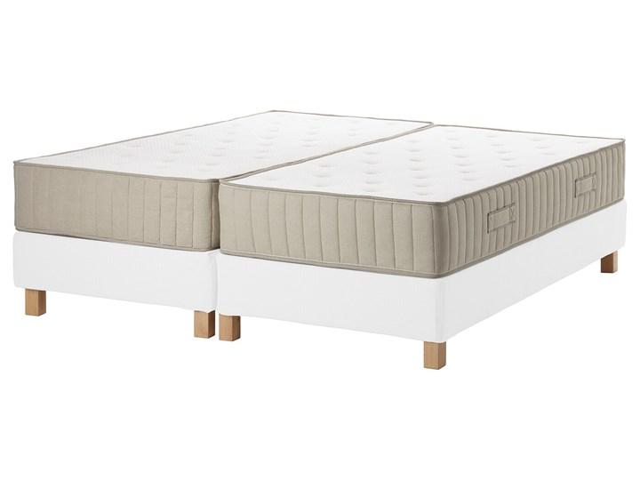 IKEA ESPEVÄR/VATNESTRÖM Łóżko kontynentalne, biały/twardy naturalny, 180x200 cm