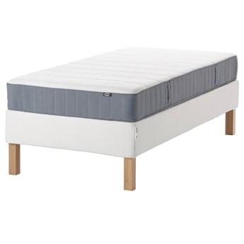 IKEA ESPEVÄR/VESTERÖY Łóżko kontynentalne, biały/średnio twardy jasnoniebieski, 90x200 cm