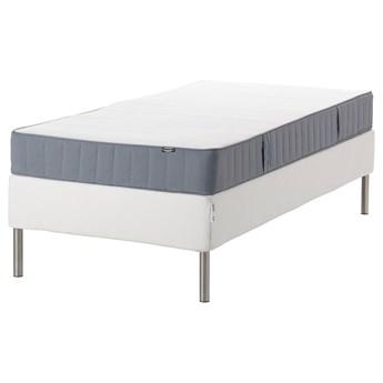 IKEA ESPEVÄR/VESTMARKA Łóżko kontynentalne, biały/średnio twardy jasnoniebieski, 90x200 cm