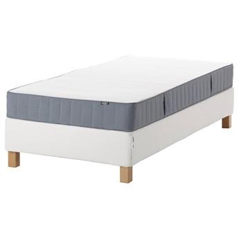 IKEA ESPEVÄR/VESTMARKA Łóżko kontynentalne, biały/twardy jasnoniebieski, 90x200 cm