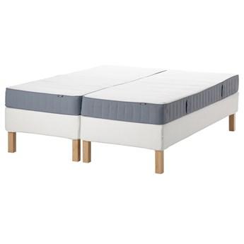 IKEA ESPEVÄR/VESTMARKA Łóżko kontynentalne, biały/twardy jasnoniebieski, 180x200 cm