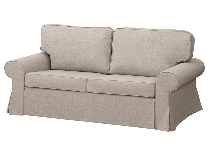 IKEA EVERTSBERG Sofa 2-osobowa rozkładana, z pojemnikiem beżowy, Wysokość łóżka: 29 cm