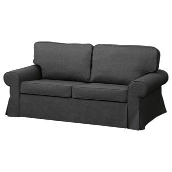 IKEA EVERTSBERG Sofa 2-osobowa rozkładana, z pojemnikiem ciemnoszary, Wysokość łóżka: 29 cm
