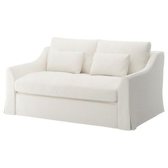 IKEA FÄRLÖV Sofa 2-osobowa rozkładana, Flodafors biały, Wysokość z poduchami oparcia: 90 cm