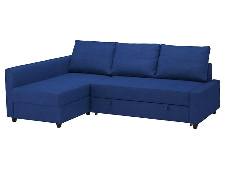 IKEA FRIHETEN Narożnik z funkcją spania, Skiftebo niebieski, Długość: 230 cm