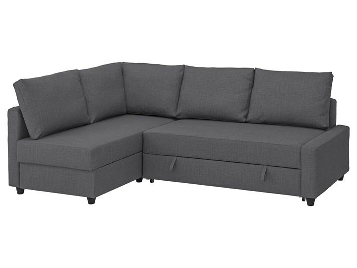 IKEA FRIHETEN Narożnik z funkcją spania, z dodatkowymi poduchami oparcia/Skiftebo ciemnoszary, Szerokość: 230 cm