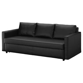 IKEA FRIHETEN Sofa trzyosobowa rozkładana, Bomstad czarny, Szerokość: 225 cm