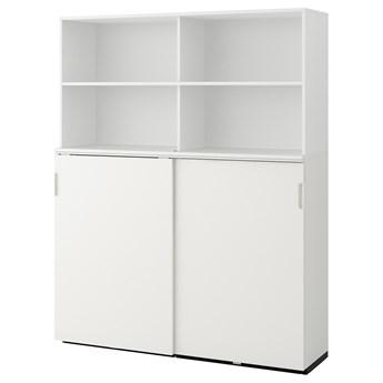 IKEA GALANT Kombinacja z przesuwanymi drzwiami, Biały, 160x200 cm
