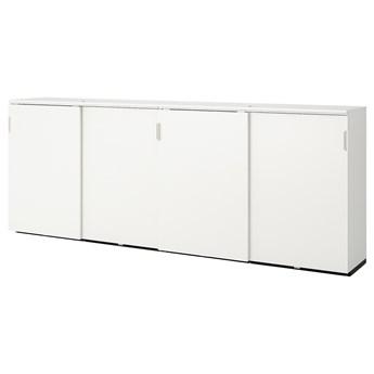 IKEA GALANT Kombinacja z przesuwanymi drzwiami, Biały, 320x120 cm