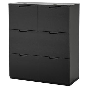 IKEA GALANT Kombinacja z teczkami, Okl jesionowa bejcowana na czarno, 102x120 cm