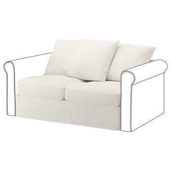 IKEA GRÖNLID Sekcja 2-osobowa, Inseros biały, Wysokość z poduchami oparcia: 104 cm