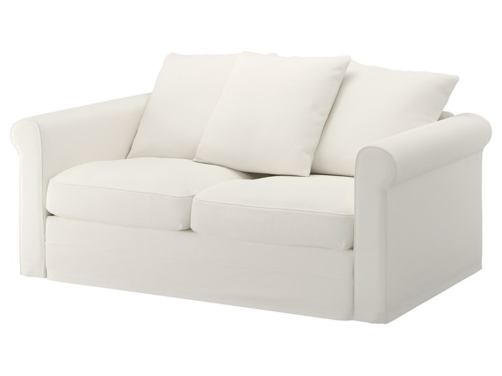 IKEA GRÖNLID Sofa 2-osobowa, Inseros biały, Wysokość z poduchami oparcia: 104 cm