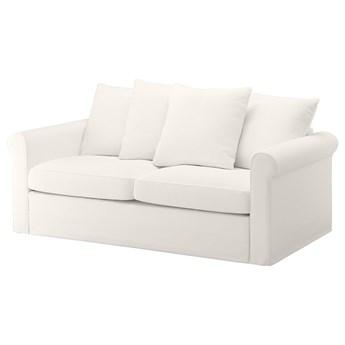 IKEA GRÖNLID Sofa 2-osobowa rozkładana, Inseros biały, Wysokość łóżka: 53 cm