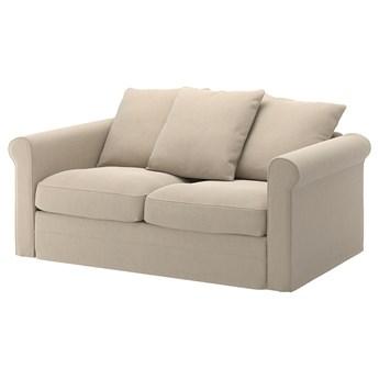IKEA GRÖNLID Sofa 2-osobowa, Sporda naturalny, Wysokość z poduchami oparcia: 104 cm