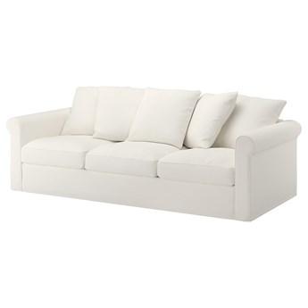 IKEA GRÖNLID Sofa 3-osobowa, Inseros biały, Wysokość z poduchami oparcia: 104 cm