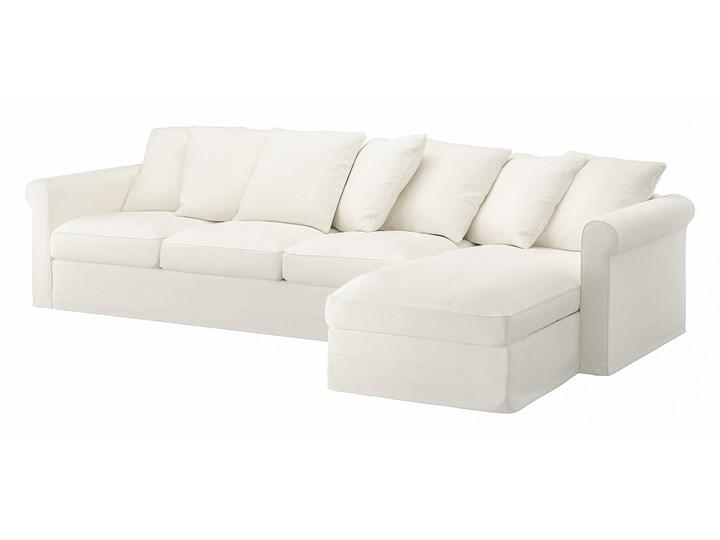 IKEA GRÖNLID Sofa 4-osobowa z szezlongiem, Inseros biały, Wysokość z poduchami oparcia: 104 cm