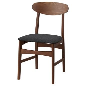 IKEA GUNLEIF Krzesło, brązowy/Gunnared ciemnoszary, Przetestowano dla: 110 kg