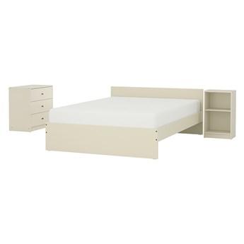 IKEA GURSKEN Zestaw mebli do sypialni 3 szt, jasnobeżowy