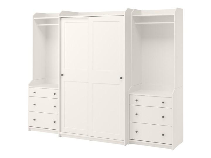 IKEA HAUGA Kombinacja szafy, Biały, 258x55x199 cm