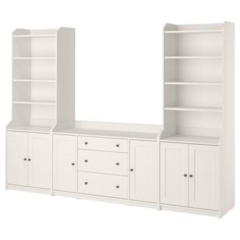 IKEA HAUGA Regał, Biały, 279x46x199 cm