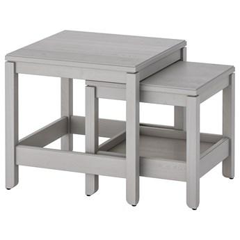IKEA HAVSTA Stoliki, 2 szt, Szary