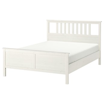 IKEA HEMNES Rama łóżka, Biała bejca, 160x200 cm