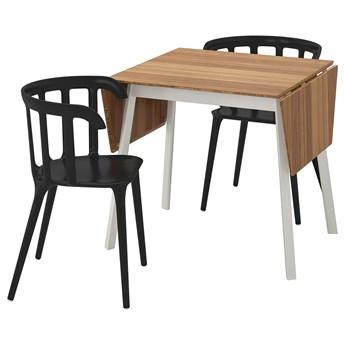 IKEA IKEA PS 2012 / IKEA PS 2012 Stół i 2 krzesła, bambus/czarny, 74 cm