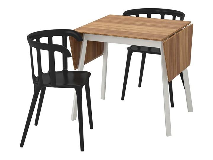 IKEA IKEA PS 2012 / IKEA PS 2012 Stół i 2 krzesła, bambus/czarny, 74 cm Kolor Brązowy
