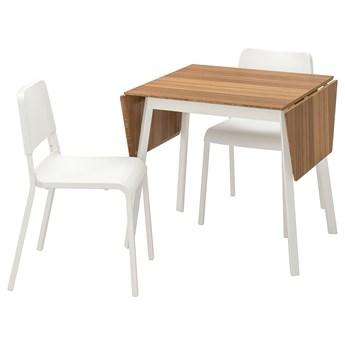 IKEA IKEA PS 2012 / TEODORES Stół i 2 krzesła, bambus biały/biały