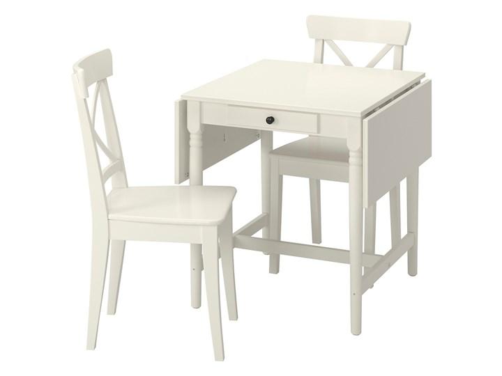 IKEA INGATORP / INGOLF Stół i 2 krzesła, biały/biały, Długość: 123 cm
