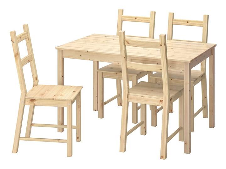 IKEA INGO / IVAR Stół i 4 krzesła, sosna, 120 cm Kolor Beżowy
