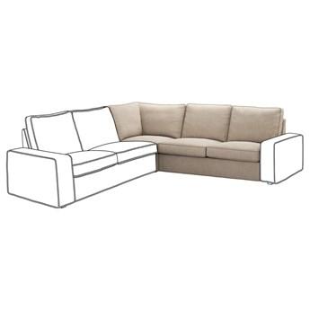 IKEA KIVIK Sekcja narożna, Hillared beżowy, Szerokość: 234 cm