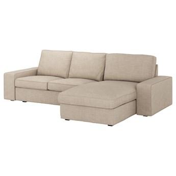 IKEA KIVIK Sofa 3-osobowa, z szezlongiem/Hillared beżowy, Maksymalna szerokość: 280 cm